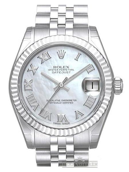 Rolex Datejust 31, Hvid MOP/perlemor