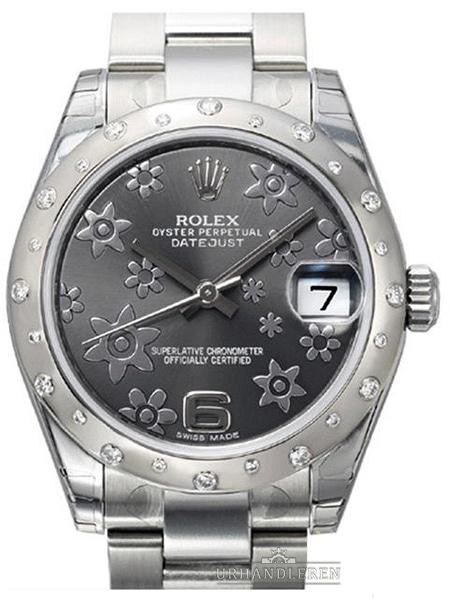 Rolex Datejust 31, Dark rhodium floral
