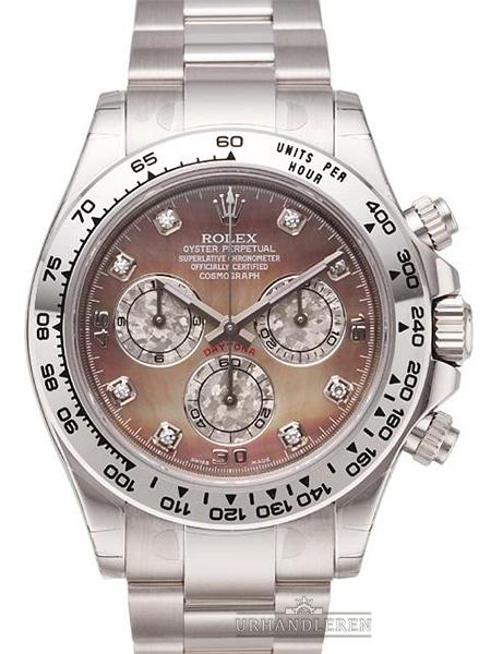 Rolex Daytona Cosmograph, Sort MOP/perlemor