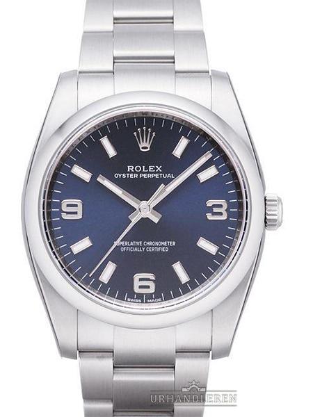 Rolex Oyster Perpetual 34, Blå