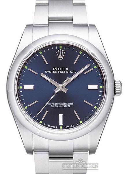 Rolex Oyster Perpetual 39, Blå skive