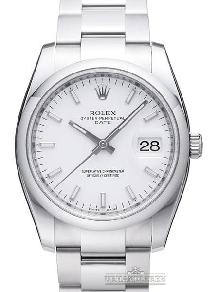 Rolex Oyster Perpetual Date 34, Hvid