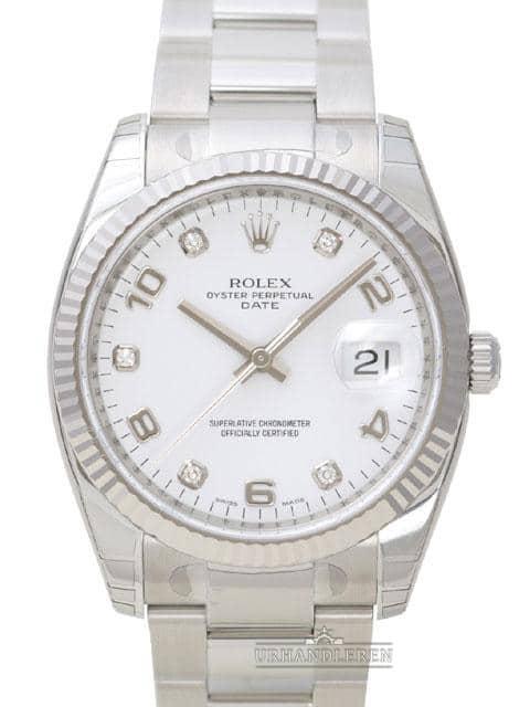 Rolex Oyster Perpetual Date 34, 115234, Hvid