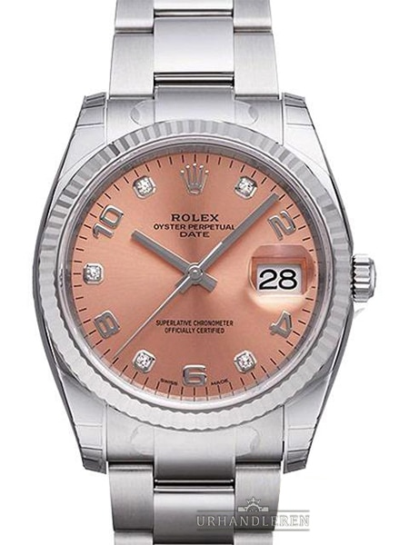 Rolex Oyster Perpetual Date 34, 115234, Pink