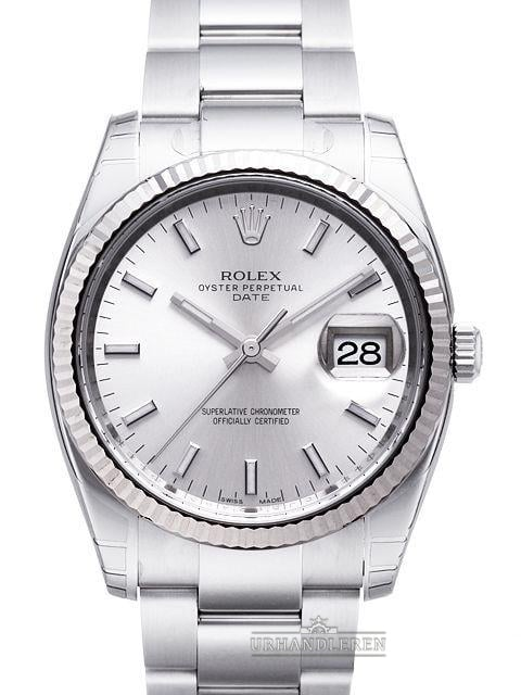 Rolex Oyster Perpetual Date 34, 115234, Sølv
