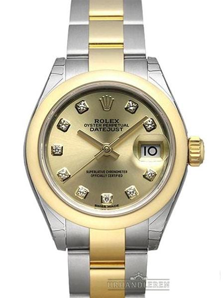 Rolex Lady-Datejust 28, Champange