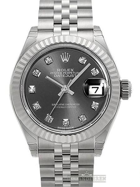 Rolex Lady-Datejust 28, Rhodium
