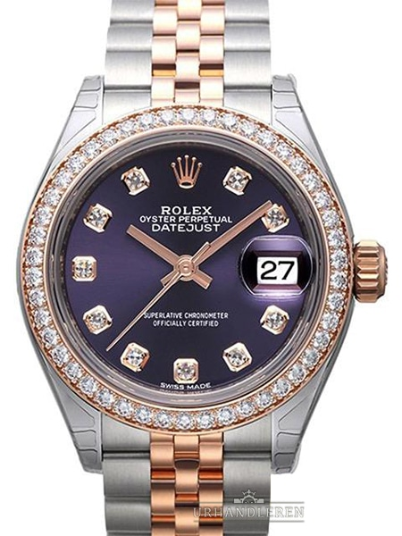 Rolex Lady-Datejust 28, Aubergine