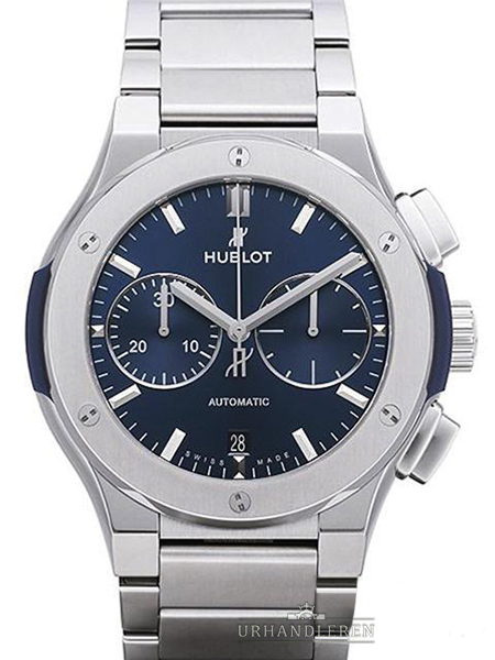 Hublot Classic Fusion Blue Chronograph Titanium Bracelet