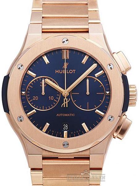 Hublot Classic Fusion Blue Chronograph King Gold Bracelet