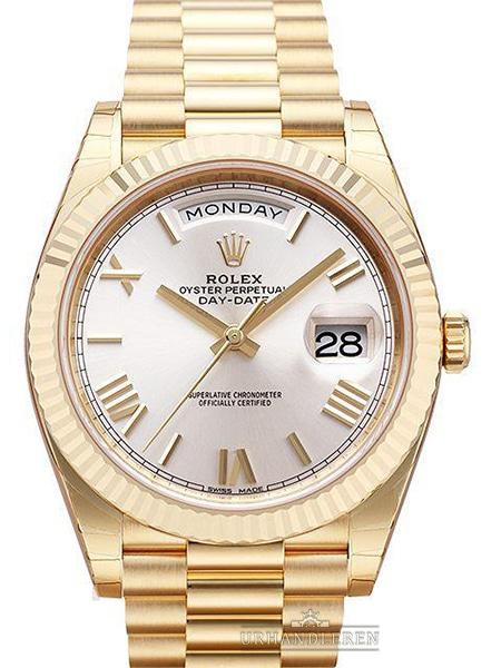Rolex Day-Date 40, Sølv