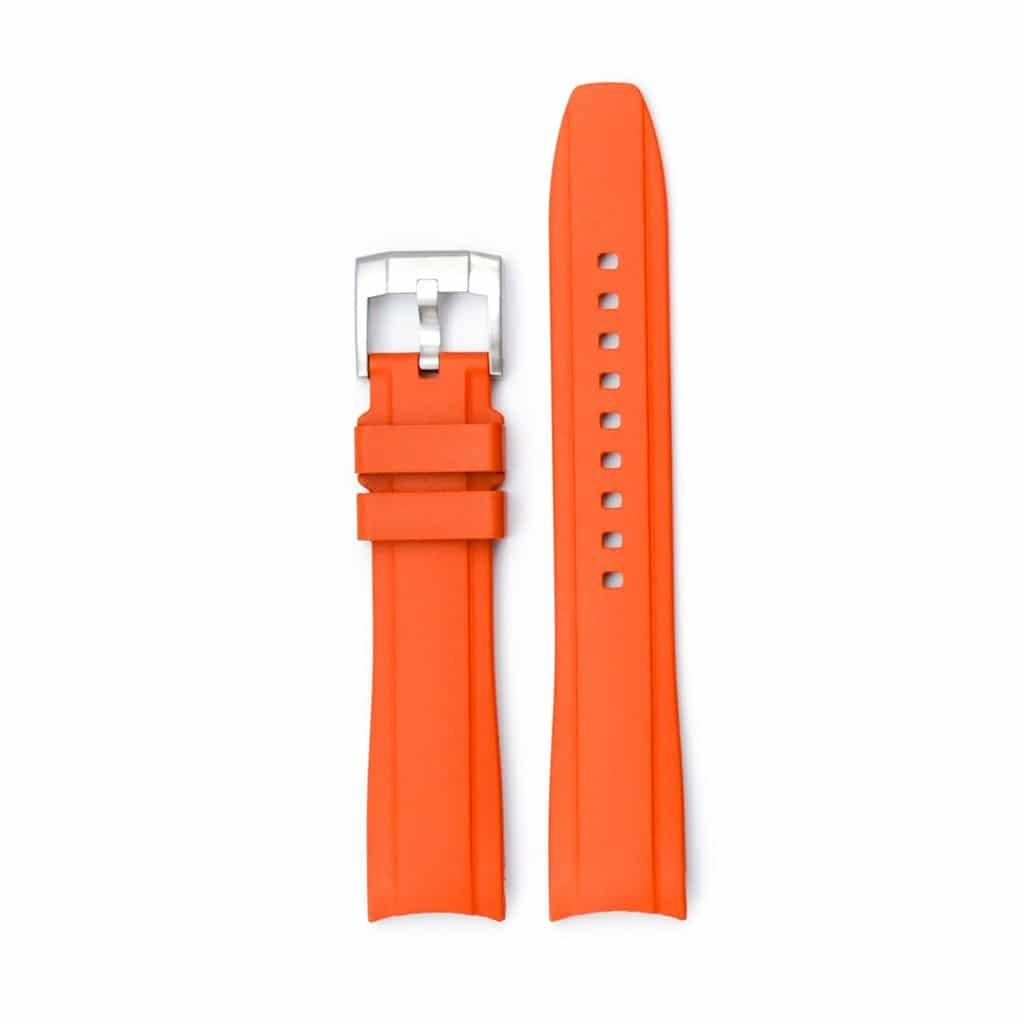 Everest gummirem med spænde til Rolex Sea-Dweller 4000 - Orange