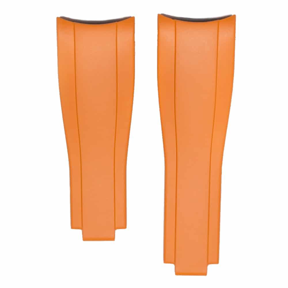 Everest gummirem til foldespænde til Rolex Sea-Dweller 4000 - Orange