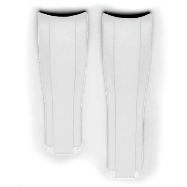 Everest gummirem til foldespænde til Rolex Sea-Dweller 4000 - White