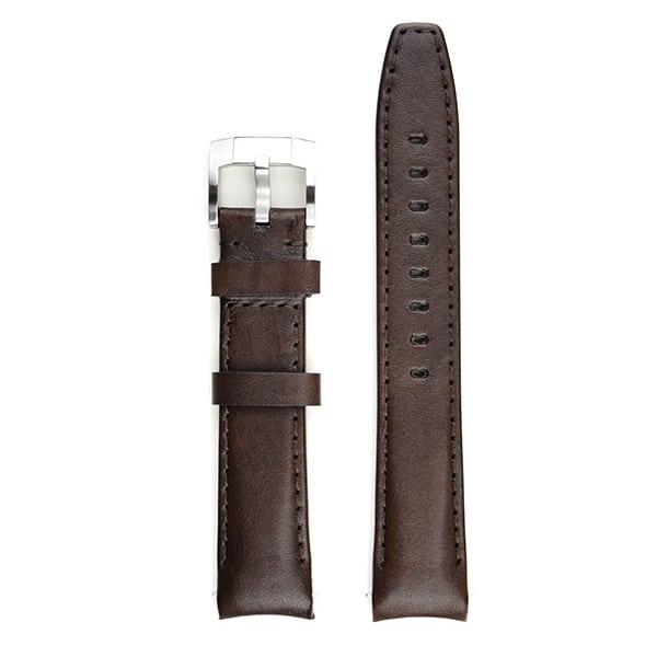 Everest læderrem med spænde - Chocolate Brown