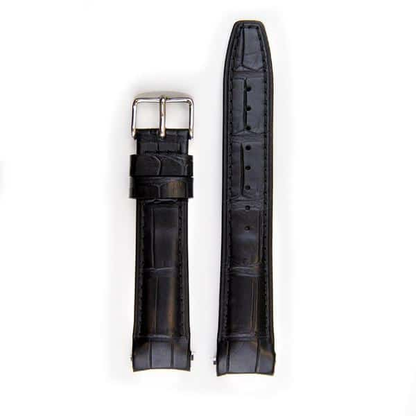 Everest læderrem med spænde til Rolex Datejust - Black Alligator