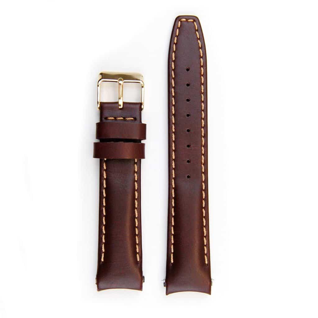 Everest læderrem med spænde til Rolex Datejust - Vintage Brown
