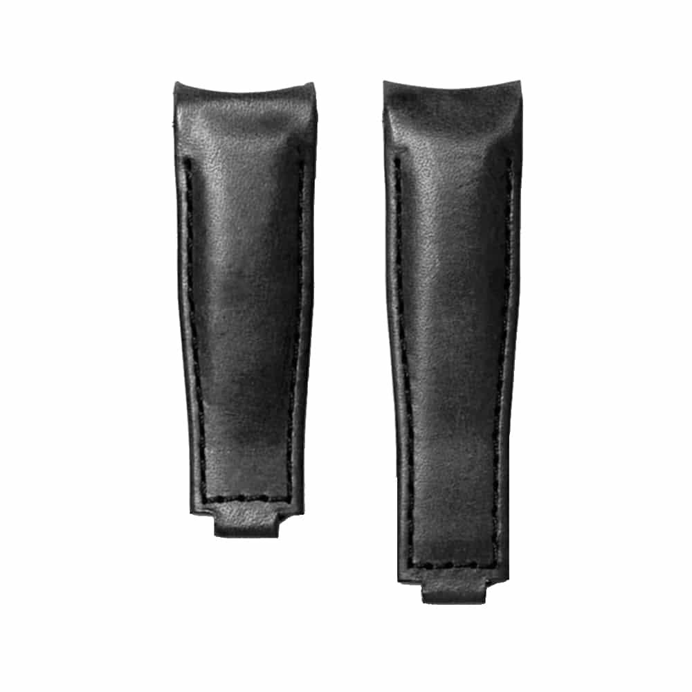 Everest læderrem til foldespænde - Black