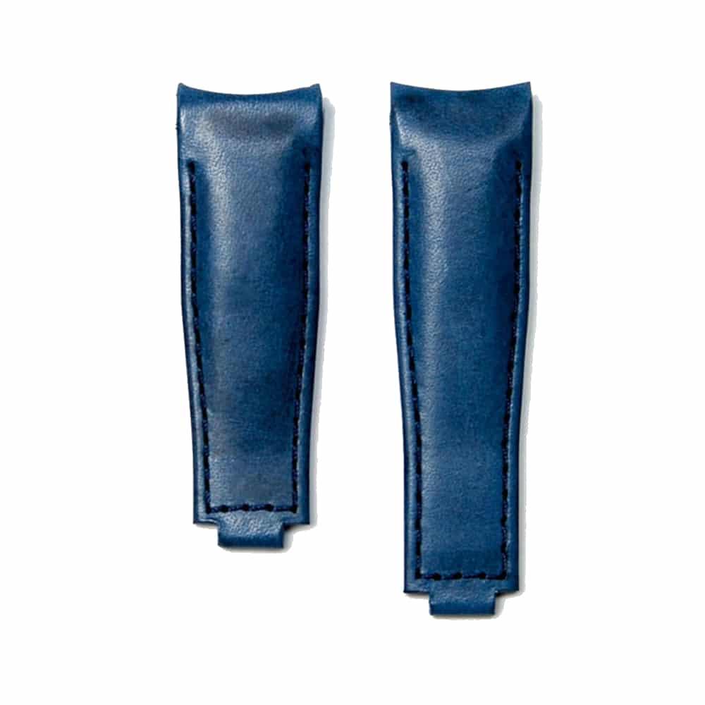 Everest læderrem til foldespænde - Blue