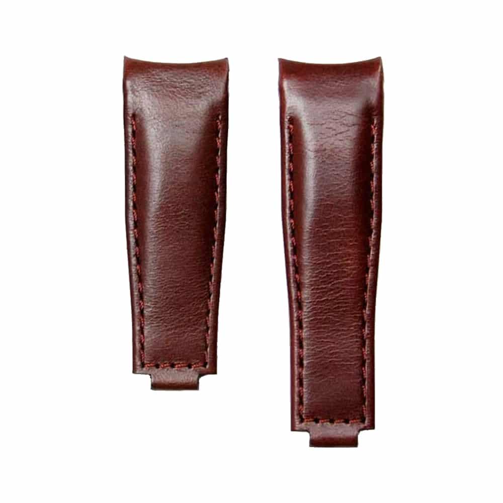 Everest læderrem til foldespænde - Vintage Brown