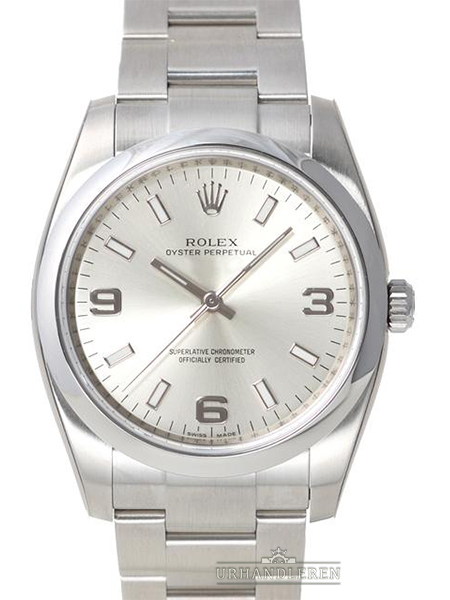 Rolex Oyster Perpetual 34, Sølv