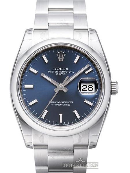 Rolex Oyster Perpetual Date 34, Blå