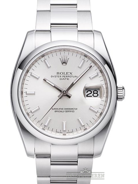 Rolex Oyster Perpetual Date 34, Sølv