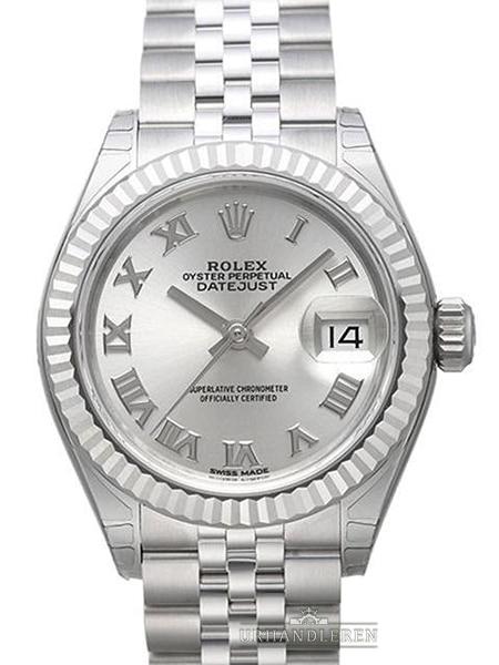 Rolex Lady-Datejust 28, Sølv