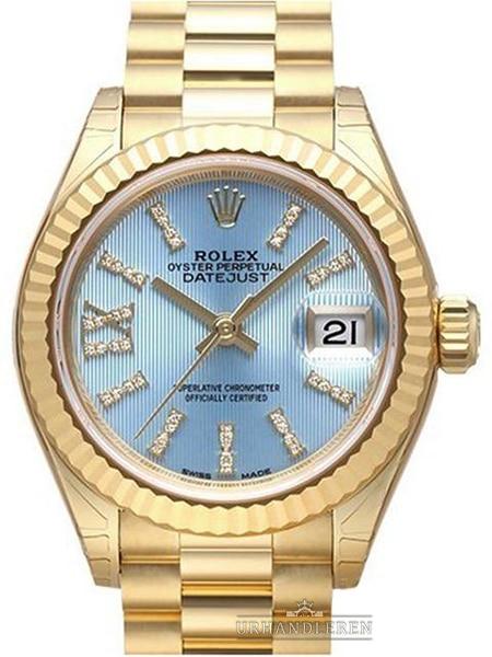 Rolex Lady-Datejust 28, Cornflower blue