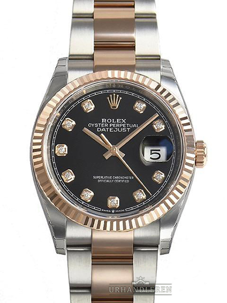 Rolex Datejust 36, Sort