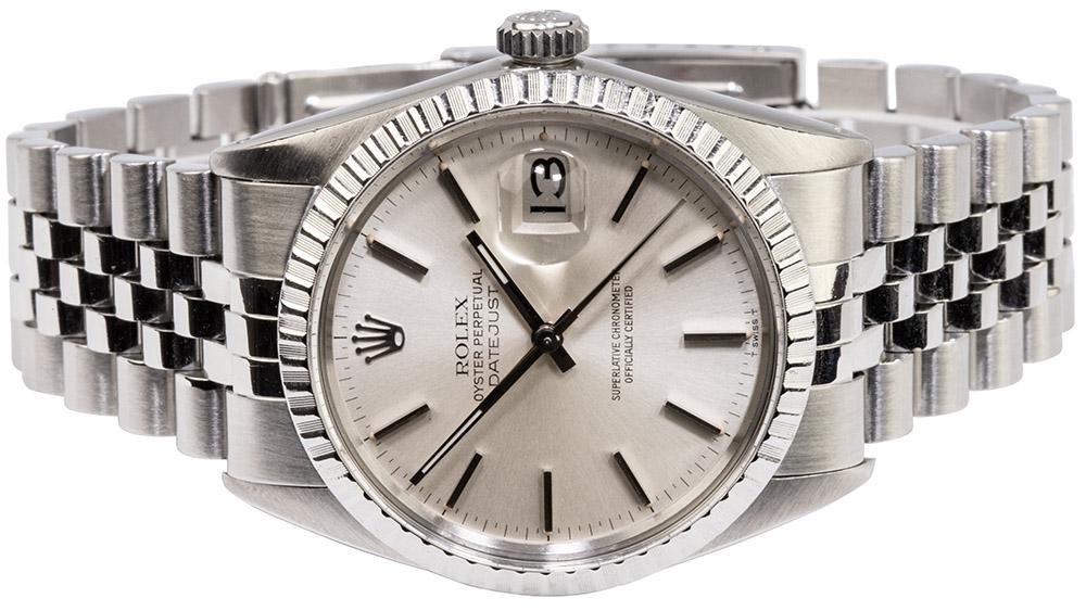 Rolex Datejust 36 Jubilee, Sølv, Indeks