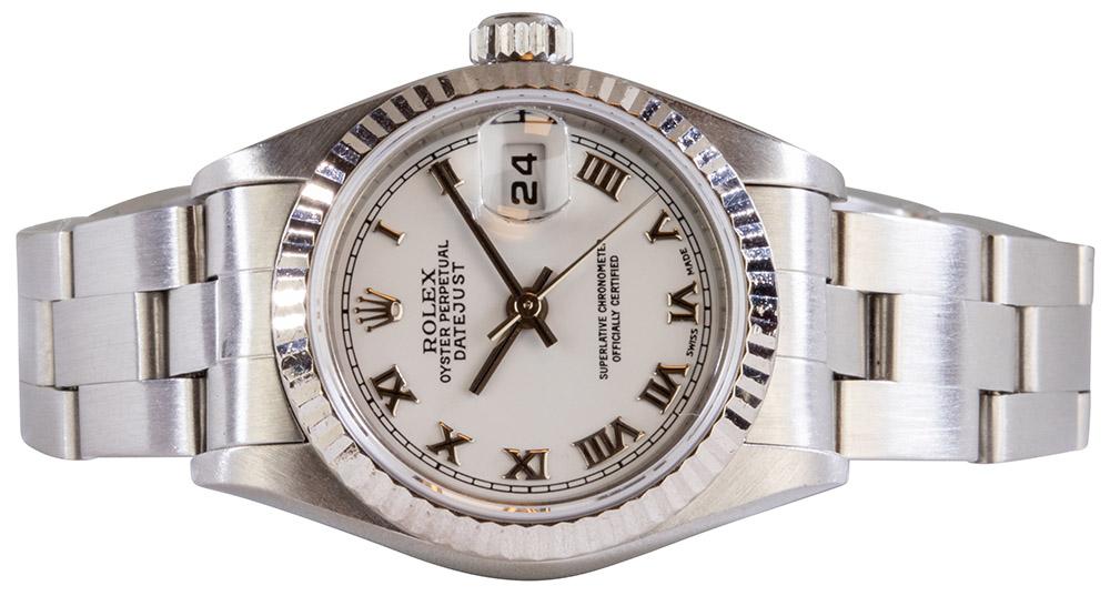 Rolex Datejust 26mm, White, Roman, Oyster