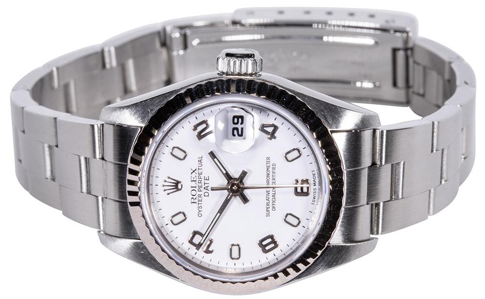 Rolex Datejust Hvid skive, Arabisk 69174