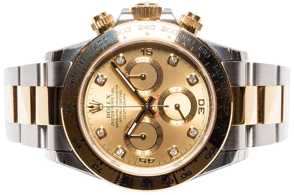 Rolex Daytona Cosmograph, Champagne, Diamant, Oyster