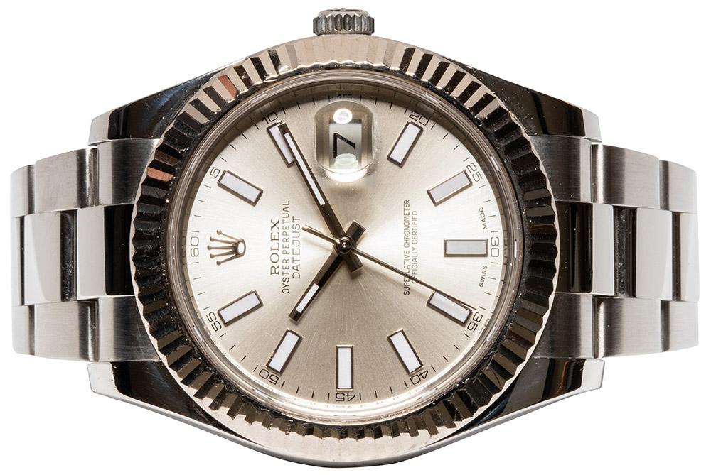 Rolex Datejust II, Sølv, Indeks, Oyster