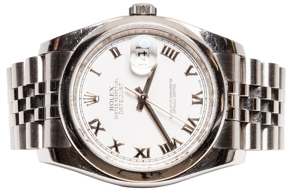 Rolex Datejust 36, Hvid, Romersk, Jubilee