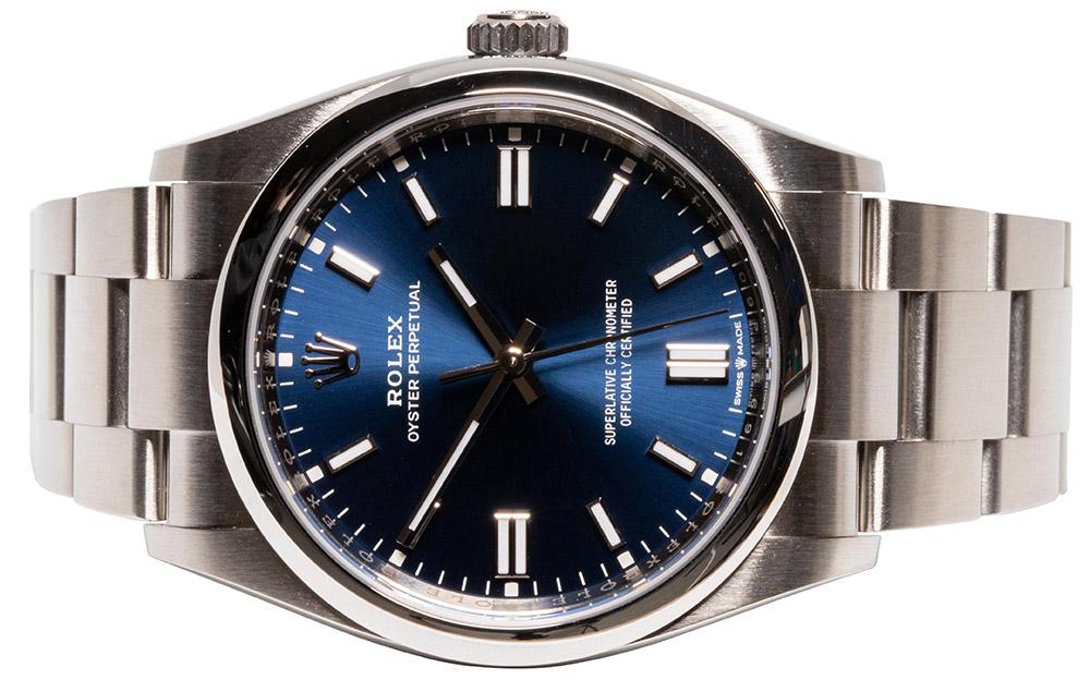Rolex Oyster Perpetual Blå Skive