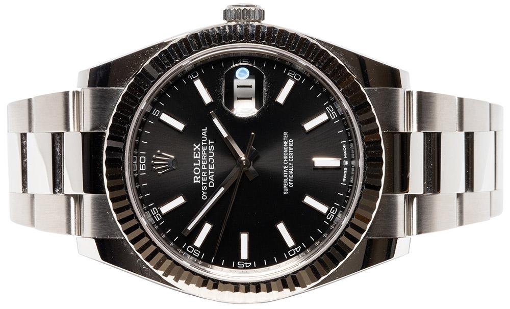 Rolex Datejust 41, Sort, Indeks, Oyster