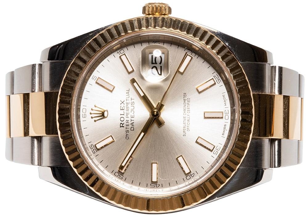 Rolex Datejust 41, Sølv, Indeks, Oyster