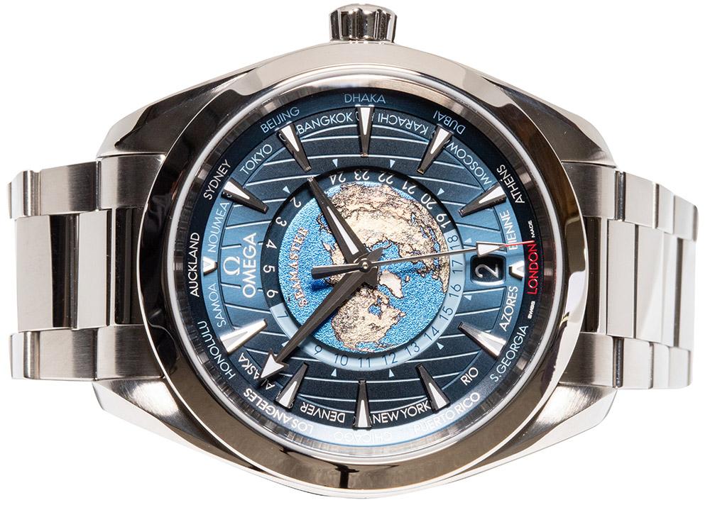 Omega Seamaster Aqua Terra 150m Co‑Axial Master Chronometer Gmt Worldtimer 43mm