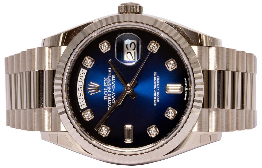 Rolex Day Date 36MM Blue Ombré Dial