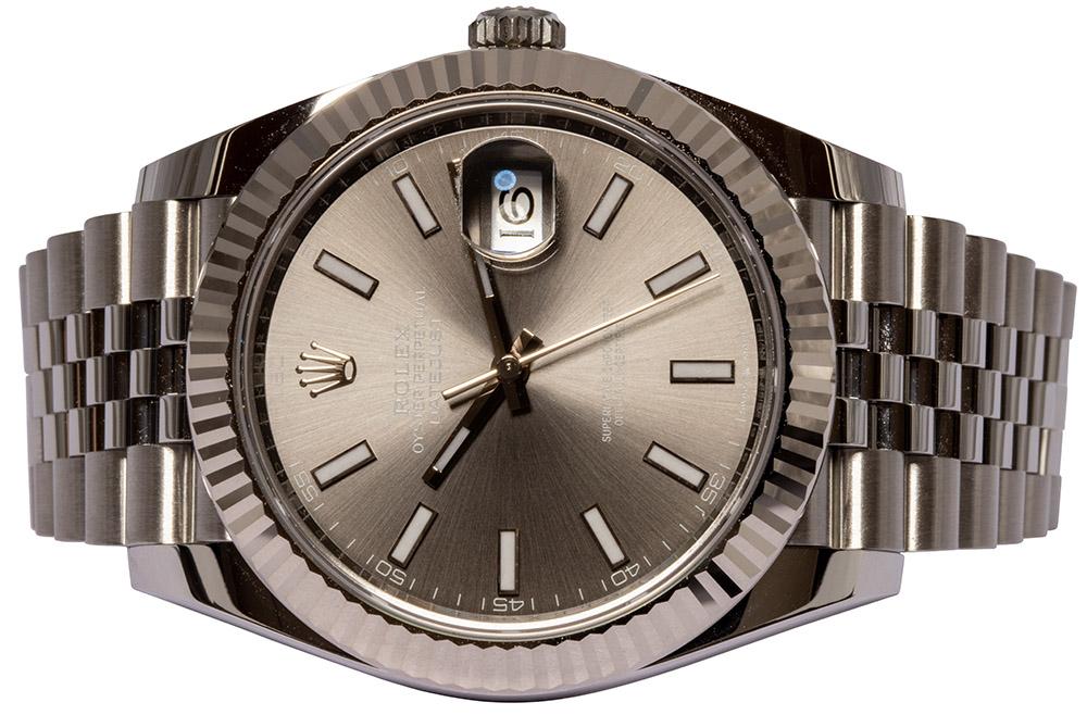 Rolex Datejust 41, Rhodium, Indeks, Jubilee