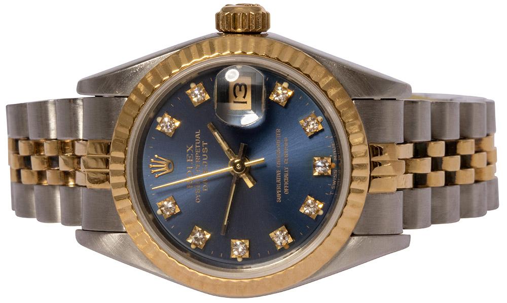 Rolex Datejust 26mm Blå skive, Diamant, Jubilee
