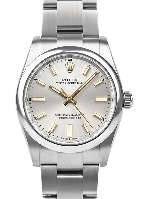 Rolex Oyster Perpetual, Silver, 34 mm