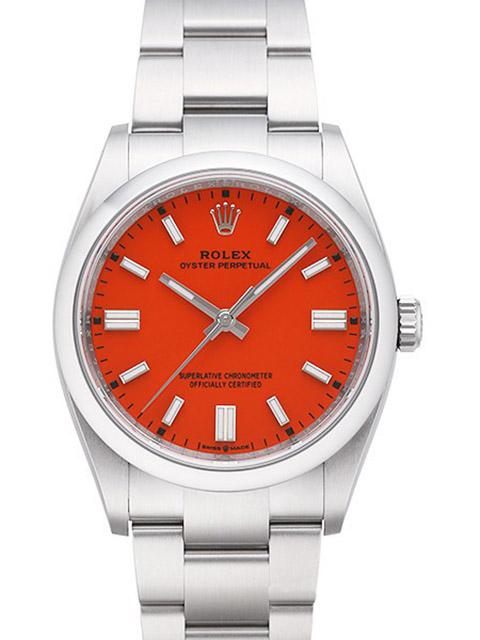 Rolex Oyster Perpetual, Coral Red, 36 mm