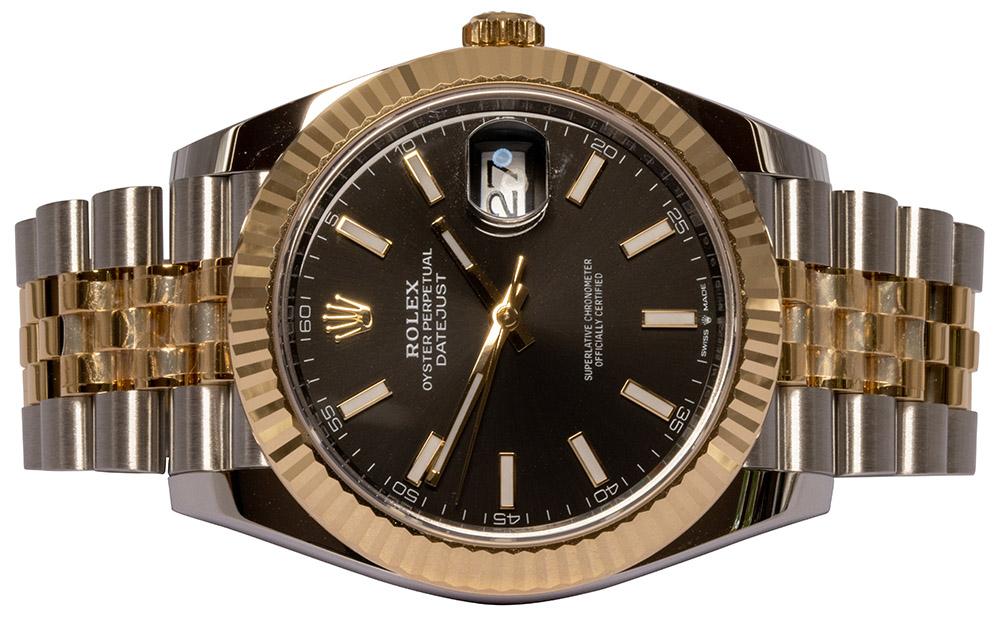 Rolex Datejust 41, Sort, Indeks, Jubilee