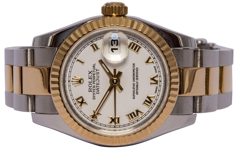 Rolex Datejust 26, Hvid skive, Romersk, Oyster
