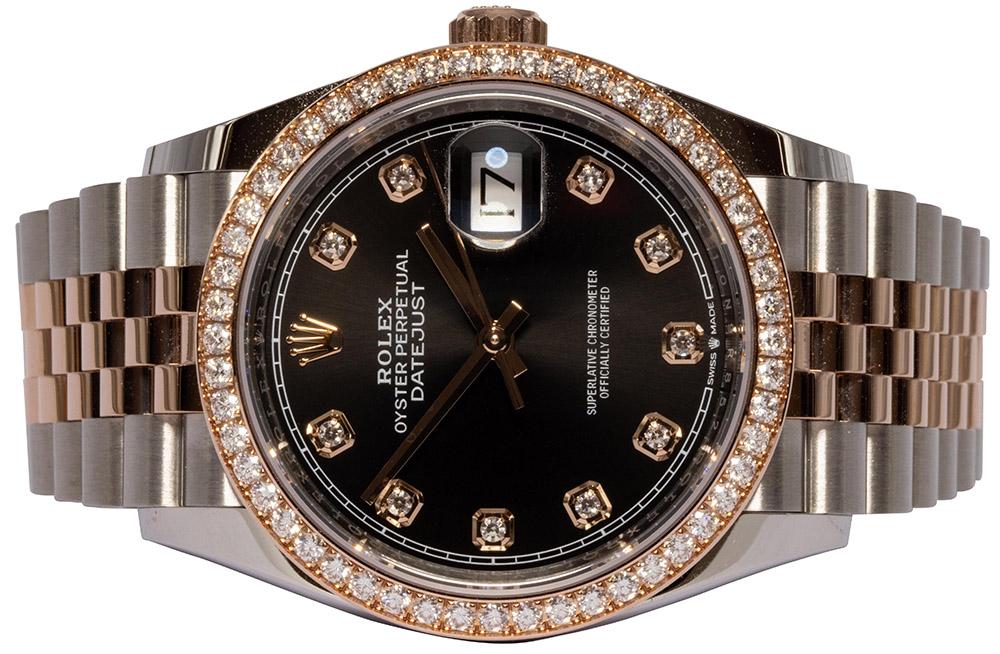 Rolex Datejust 36MM, Sort, Diamant, Jubilee