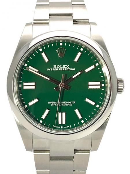 Rolex Oyster Perpetual, Green, 41 mm