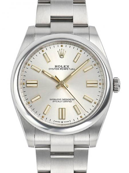 Rolex Oyster Perpetual, Silver, 41 mm